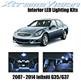 XtremeVision Interior LED for Infiniti G35 G37 Sedan 2007-2014 (11 Pieces) Cool...
