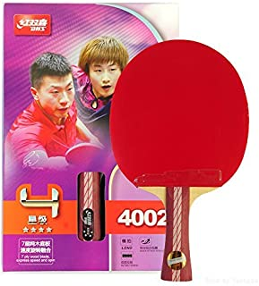 DHS Ping Pong Paddle Table Tennis Racket Bat 4 Star with Landson Support
