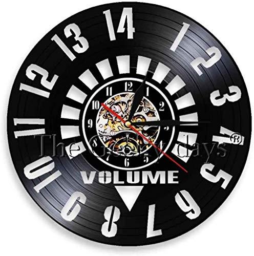 RIII Volumen Vinilo Reloj Reloj de Pared Hecho a Mano Arte de Pared Amplificador Regalo de cumpleaños Volumen Reloj música Arte Reloj decoración del hogar
