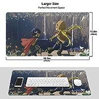 メイドインアビス マウスパッド 光学マウス対応 パソコン 周辺機器 超大型 防水 洗える 滑り止め 高級感 耐久性が良い 40*75cm