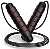 FITFORT Jump Rope, Tangle-Free Rapid Speed Jumping Rope Cable with Ball Bearings for Women, Men, and...