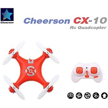 Seresroad CX-10 4CH 2.4GHz 6 Axis Gyro LED Rechargeable Mini Nano RC UFO Quadcopter - Orange