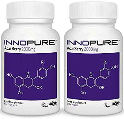 Acai Berry Extract Duo Saver Pack - 100% Pure Grade & Natural Source of Acai - 120 Capsules, 2 Month Supply - Innopure