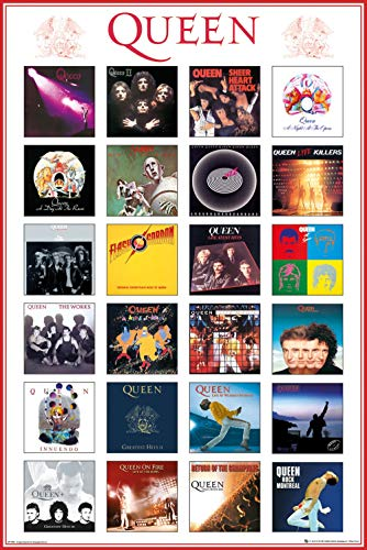 Queen - Music Poster (Album Covers) (Size: 24 inches x 36 inches)