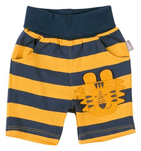 SIGIKID Baby - Jungen Shorts, kurze Sommerhose aus Bio-Baumwolle mit elastischem Umschlagbund und Eingriffstaschen, Mehrfarbig, 74