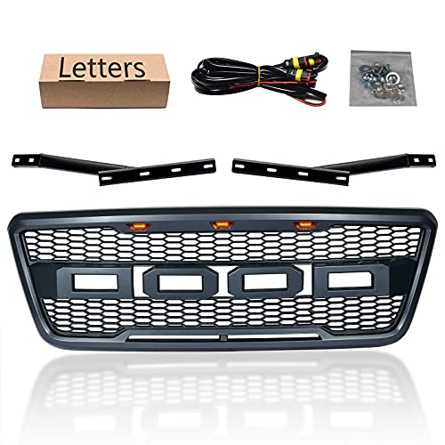 Aftermarket Front Grill For F150 2004 2005 2006 2007 2008 Parrilla Frontal Black Mesh Custom...