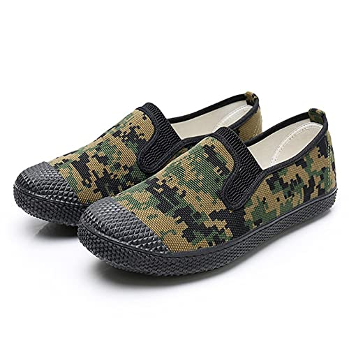 Haoooanfbx Alpargatas Hombre, Zapatos Casuales para Hombres,Zapatos de los Hombres Zapatos se Deslizan en Zapatillas de Seguros de Trabajo de Camuflaje,Zapatos de Trabajo Deportivo al Aire Libre para