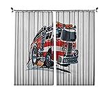 Rideaux texturés plissés pour camion, sécurité du public, véhicules de pompiers, travaux dangereux, convient pour portes coulissantes en verre, fenêtres de cuisine, 213 x 213 cm, bleu ciel écarlate