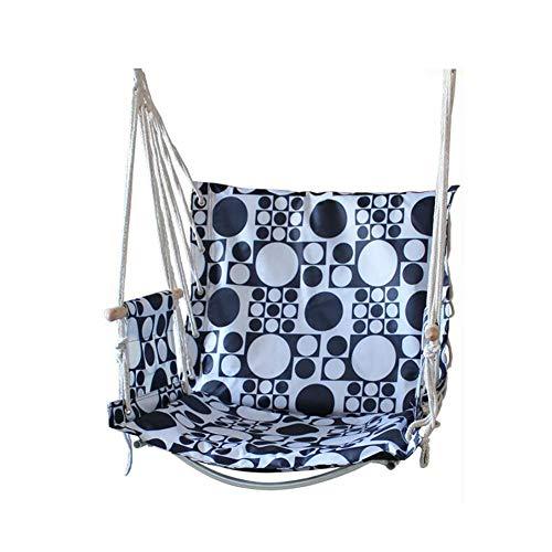 DALL Hangmatten Hangstoel schommelstoel Tuin Opknoping Gestreept Katoen Indoor Outdoo