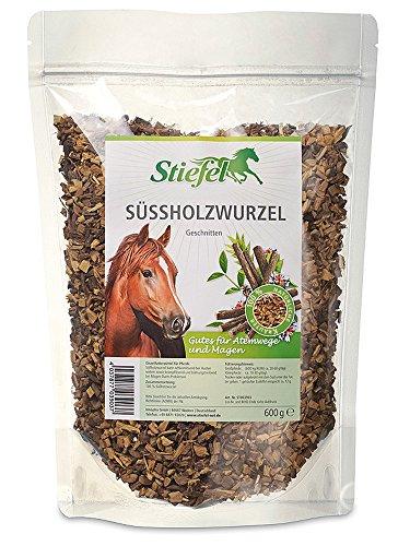 Stiefel Süßholzwurzel 600g Tüte für Pferde für Atemwege und Verdauung - entzündungshemmende und abschwellende Wirkung