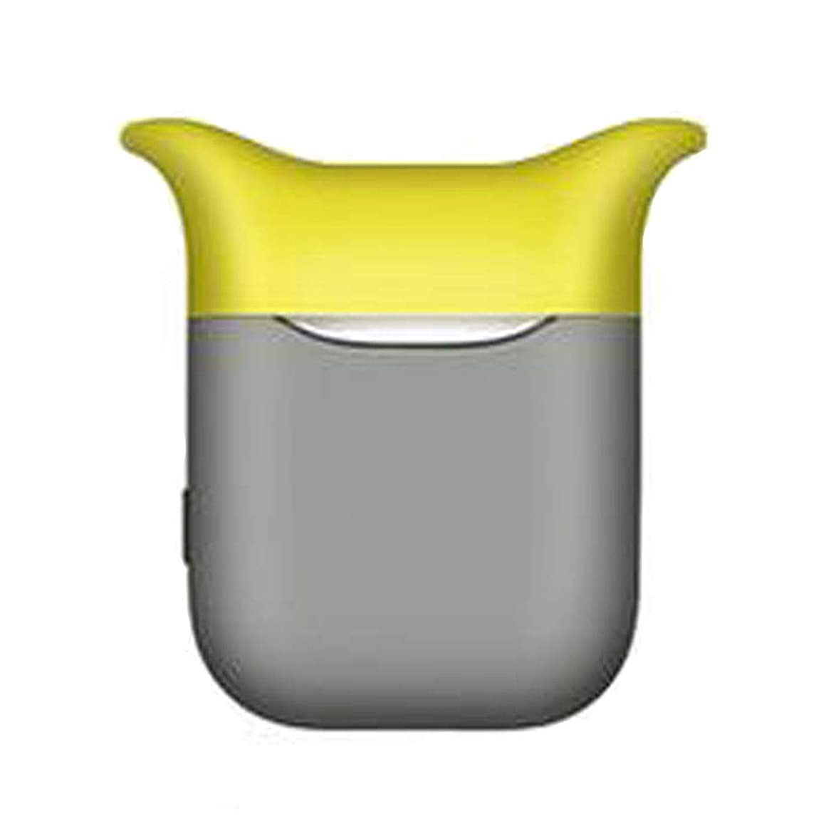 先にアウターフェリーHongyuantongxun001 ヘッドフォンカバー、シリコンAirPodsカバーアンチドロップワイヤレスBluetoothヘッドセット収納ボックスアンチロストストラップアクセサリー、イエローグレー、ピンクホワイト、レッドブラック 美しい (Color : Yellow gray)