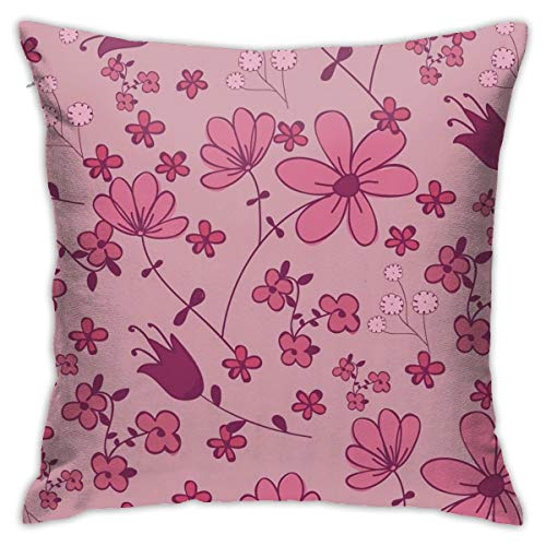 iksrgfvb Pillowcases Cushion Covers decoration Bark Illustration Of Florals on the Sofa car bed 45X45 CM