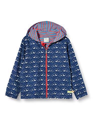 loud + proud Kinder-Unisex Wasserabweisende Jacke Regenjacke, Ultramarin, 86/92
