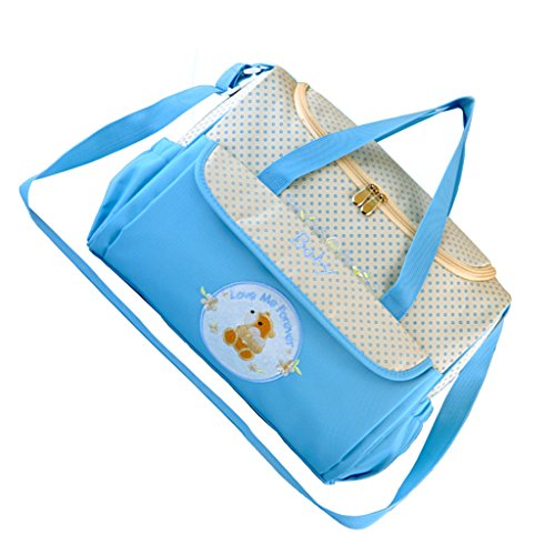 Wickeltasche Umhängetasche Babytasche Handtasche Tote Henkeltaschen Windeltasche für Mama und Papa - Blau, wie beschrieben