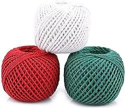 3X100M katoenen touw string tuin touw bal in 3 kleuren keuken touw bakker koken string voor trussing binden en tuinieren t...