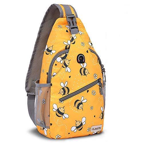 ZOMAKE Sling Bag for Women Men, Small Sling Backpack Purse Crossbody Bag for Travel Hiking