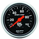 Auto Meter 3321 Sport-Comp Mechanical Oil Pressure Gauge, 2.3125 in.