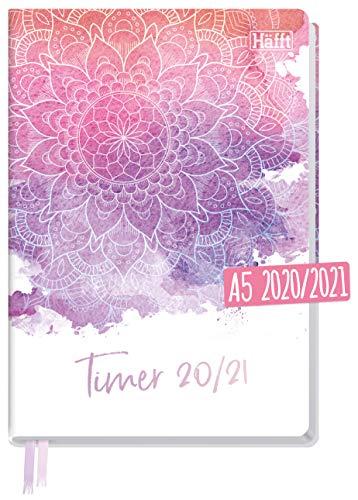 Häfft-Timer A5 2020/2021 A5 [Filigran] Hardcover Schüler-Kalender, Schüler-Planer, Schulplaner, Semesterplaner für Oberstufe, Ausbildung oder Studium | nachhaltig & klimaneutral
