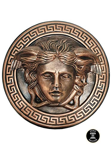 Deko XL Relief Medusa Kopf Wandrelief Ornament Antik Look 46cm