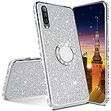 MRSTER Funda para Samsung Galaxy A90 5G, Glitter Bling TPU Bumper Brillante Diamante Protector Case...