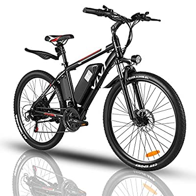 """Vivi 500W Electric Bike, Adult Electric Bikes 26"""" Mountain Bike Bicycle with 21-Speed Gears/Removable 36V/10.5Ah Battery/4 Modes/2 Mudguards"""