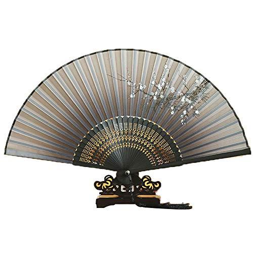 LOKIH Abanico Plegable Abanicos Japoneses Plegables De Bambú Decoraciones para Fiestas Y Regalos