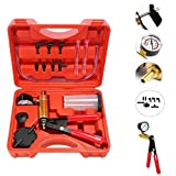 Beduan 16pcs Brake Bleeder Kit Hand Held Vacuum Pump Tester with Adapters for Automotive
