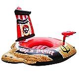 Lvhan Aufblasbares Boot - Piratenboot Aufblasbare Kinderboot Wasserspielzeug 127 x 124 x 72 cm