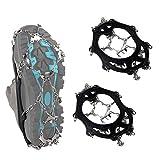 SUNTRADE Crampones antideslizantes de 19 dientes de tracción de acero inoxidable para caminar, correr, escalar y senderismo (M)