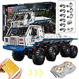 Oeasy Técnica Camión Tatra 8 x 8, 3647 piezas, 2,4 G, todoterreno, con mando a distancia y motores, compatible con Lego Technic