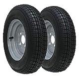 Parnells 2-10' inch trailer wheel & tyre 145R10 6 ply 430kgs 84/82N 4 stud 100mm pcd