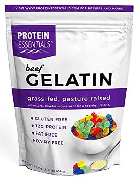 Protein Essentials Beef Gelatin Powder Unflavored Pasture-Raised Grass Fed  16oz