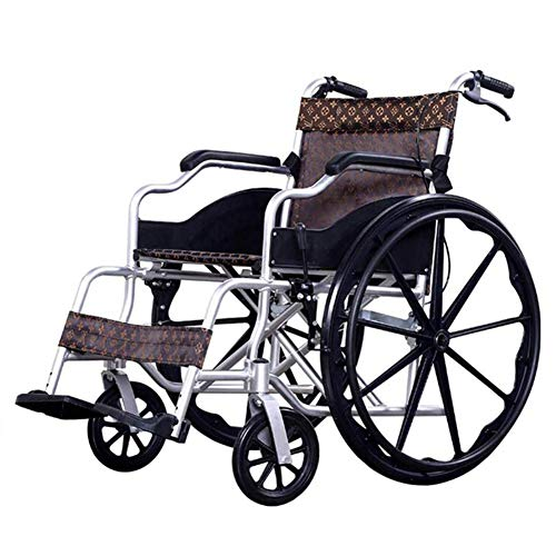 ZXMDP aluminium rolstoel, licht en opvouwbaar, geschikt voor rolstoel, transit reizen, chairfor, handmatige rolstoel, geschikt voor mensen met een handicap.