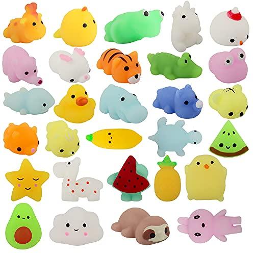 29 Piezas Mochi Squishy Toys, ZoneYan Kawaii Squishy, Squishies de Animales Y fruta, Squishy Animales Kawaii, Mini Kawaii Suave, Juguete Divertido, para Niños y Adultos, Adornos, Aliviar el Estrés (B)