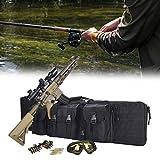 Eortzzpc Bolsa De Almacenamiento para Armas, Funda Escopeta Airsoft Caza Rifle Táctico con Las Cremalleras Resistentes Que Puede Utilizar Durante Mucho Tiempo (Size : 93x31CM/36x12in)