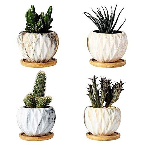 MINGMIN-DZ Dauerhaft 8Pcs Töpfe Keramik Fleshy Blumentopf Blumentöpfe Pflanzkübel Macetas Garten Zubehör Haushaltsblumentopf for Dekor-Büropflanze (Color : C)