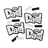 Color Your Own Emoji Dad Magnets 1Dz - Crafts for Kids and Fun Home Activities