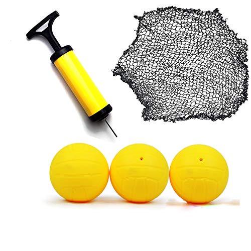 O RLY Handluftpumpe Ballpumpe und Stift, 3 Bälle + Netz Kit fur RoundNet Game kompatibel mitr RoundNet Game