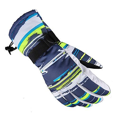 Guanti Invernali da Uomo e da Donna, Guanti Caldi, Impermeabili, Antivento Materiale PVC Resistente all'Usura Antiscivolo Sport Ciclismo Montagna
