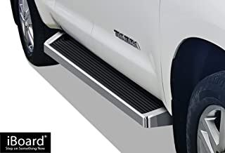 APS iBoard (Silver Running Board Style) Running Boards Nerf Bars Side Steps Step Rails Compatible with 2007-2020 Toyota Tundra Double Cab Pickup 4-Door