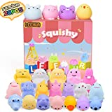 LEEHUR Squishies for Girls Birthday Party Favors Squishys Kids Mochi Squishy 20Pcs Kawaii Soft Mini Moji Moji Animals Toys for 6 year old Boys Squeeze Stress Anxiety Relief Toys Goodie Bag Class Prize