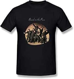 JohnHA Men's Paul McCartney Band On The Run Classic T-Shirts Black