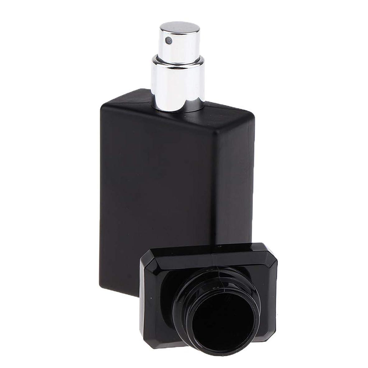 振幅急速なうぬぼれたSM SunniMix 香水ガラス瓶 ガラスボトル 香水瓶 アトマイザー 空のボトル スプレーボトル 化粧品ボトル 全2色選ぶ - ブラック