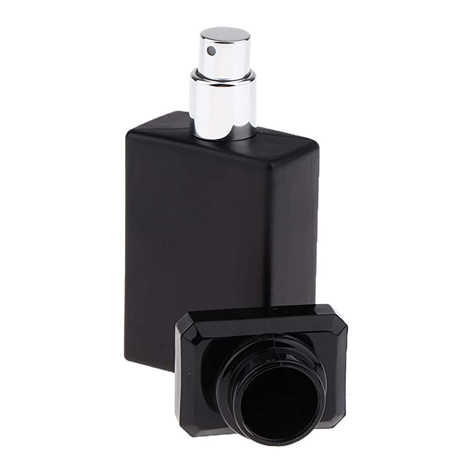 バウンス連合統計的SM SunniMix 香水ガラス瓶 ガラスボトル 香水瓶 アトマイザー 空のボトル スプレーボトル 化粧品ボトル 全2色選ぶ - ブラック