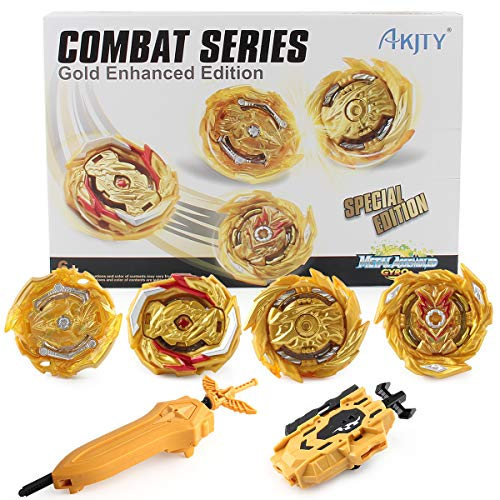 Bay Battle Burst Avatar Attack Battle Set with Two String Launcher and Grip Starter 4 in 1