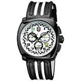 Luminox Black White Outdoor Mens Watch Tony Kanaan Limited Edition XL.1146-100 M Water Resistant Stainless Steel Chronograph Antireflective Sapphire Crystal