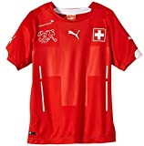 PUMA Kinder Trikot Suisse Kids Home Shirt Replica Schweiz Red-White, 176
