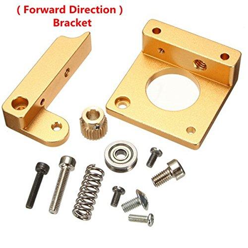 Youmile All Metal Right Hand MK8 Extruder Aluminium Rahmenblock Bausatz für Reprap i3 3D Drucker