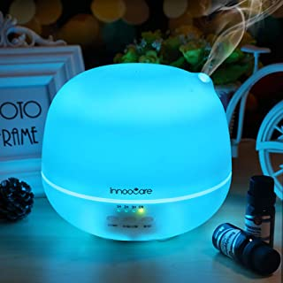 Innoo Tech Aroma Diffuser, 500ml Aromatherapy/Essential Oil Diffuser, Ultrasonic Humidifier & Cool Mist Humidifier with 7 ...