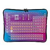 Normal Neon Periodensystem der Elemente Laptoptaschen Schlank Verschleißfest - Wissenschaft Tablet-Hülle Geeignet für Geschäft White 15 Zoll